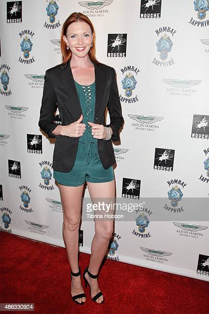 Amanda Fields attends the VIP opening reception for 'Dis-Ease', an evening of fine art with Billy Morrison at Mouche Gallery on September 2, 2015 in...