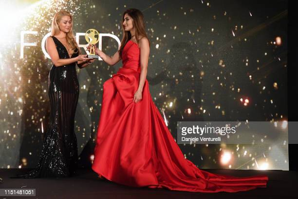Amanda Ford attends theInaugural 'World Bloggers Awards' during the 72nd annual Cannes Film Festival on May 22, 2019 in Cannes, France. The 'World...