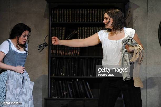 Amanda Forsythe as Marzelline and Lise Davidsen as Leonore in the Royal Opera's production of Beethoven's Fidelio directed by Tobias Kratzer and...