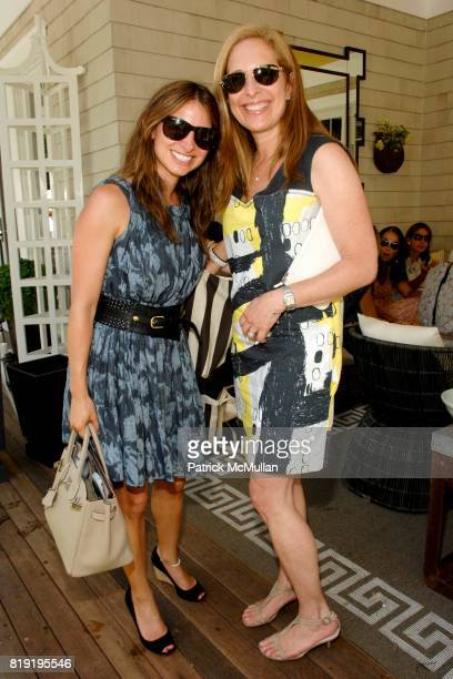 Amanda Freeman and Susan Feldman attend ONE KINGS LANE LUNCHEON AT 2010 HAMPTONS DESIGNER SHOWHOUSE at Designer Showhouse on July 26 2010 in Sag...