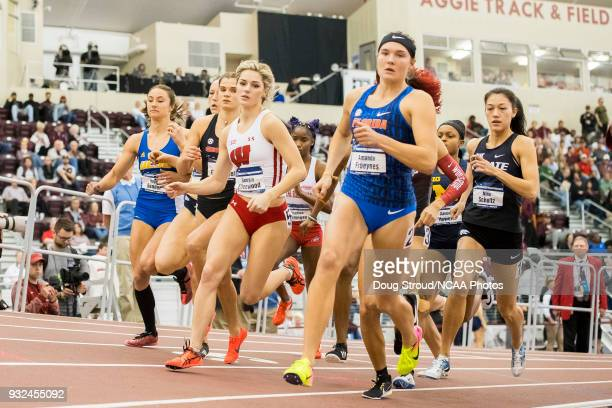 Amanda Froeynes of the University of Florida leads the pack with Georgia Ellenwood of the University of Wisconsin Louisa Grauvogel of the University...