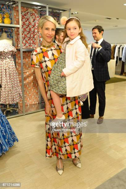 Amanda Fuhrman and Annabelle Fuhrman attend Launch of La DoubleJ at Bergdorf Goodman at Bergdorf Goodman on April 20 2017 in New York City