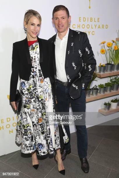 Amanda Fuhrman and Glenn Fuhrman attend Edible Schoolyard NYC 2018 Spring Benefit at 180 Maiden Lane on April 16 2018 in New York City