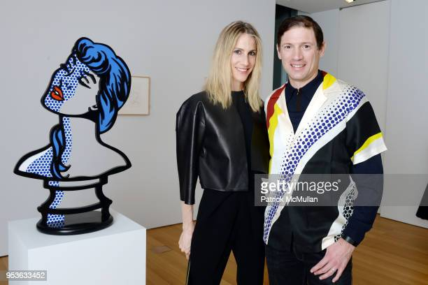 Amanda Fuhrman and Glenn Fuhrman attend Opening Reception of I'm Walking Here Richard Patterson and Roy Lichtenstein Nudes and Interiors at The FLAG...