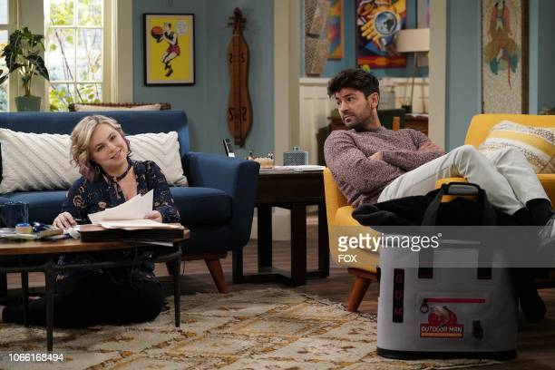 Amanda Fuller and Jordan Masterson in the Three for the Road episode of LAST MAN STANDING airing Friday Nov 16 on FOX