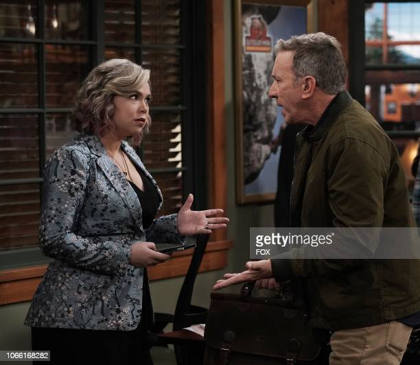 Amanda Fuller and Tim Allen in the Giving Mike The Business episode of LAST MAN STANDING airing Friday Oct 12 on FOX