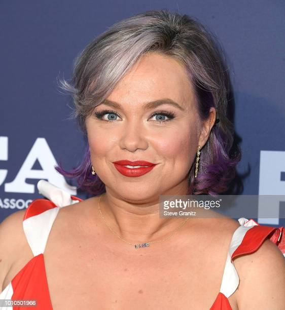Amanda Fuller arrives at the FOX Summer TCA 2018 AllStar Party at Soho House on August 2 2018 in West Hollywood California
