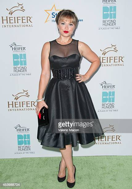 Amanda Fuller arrives at the Heifer International's 3rd Annual Beyond Hunger A Place At The Table Gala at Montage Beverly Hills on August 22 2014 in...