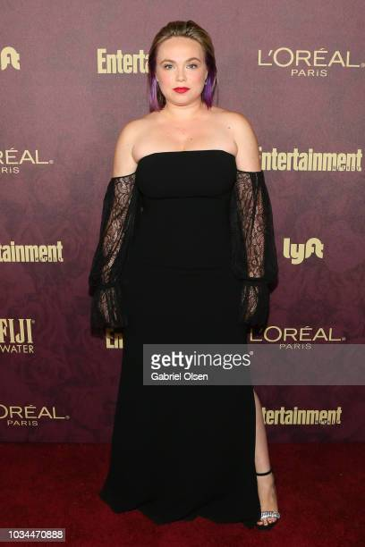 Amanda Fuller arrives to the 2018 Entertainment Weekly PreEmmy Party at Sunset Tower Hotel on September 15 2018 in West Hollywood California