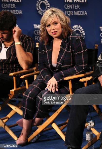 Amanda Fuller from Last Man Standing appears on stage at The Paley Center for Media's 2018 PaleyFest Fall TV Previews Fox at The Paley Center for...