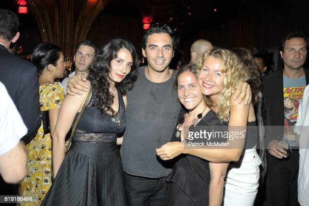 Amanda Garcia Santana Yigal Azrouel Natalie attend DAVID LACHAPELLE'S AMERICAN JESUS After Party at the Top of the Standard on July 13 2010 in New...