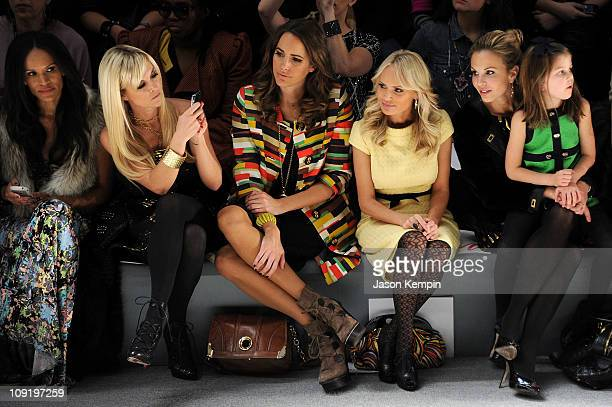 Amanda Garrigus Tinsley Mortimer TV personality Louise Roe actress Kristin Chenoweth TV personality Elisabeth Hasselbeck and her daughter Grace...