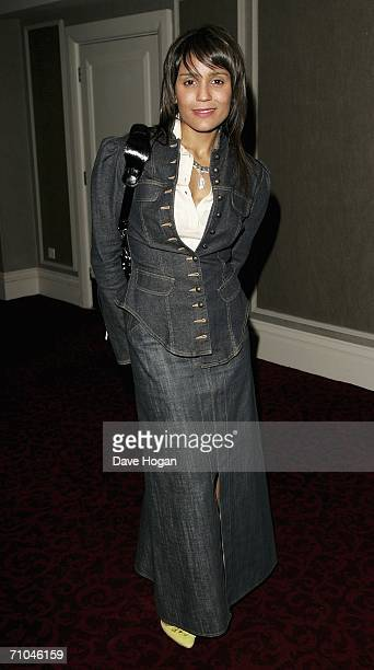Amanda Ghost song writer for James Blunt arrives at the 51st Ivor Novello Awards at the Grosvenor House Hotel on May 25 2006 in London England