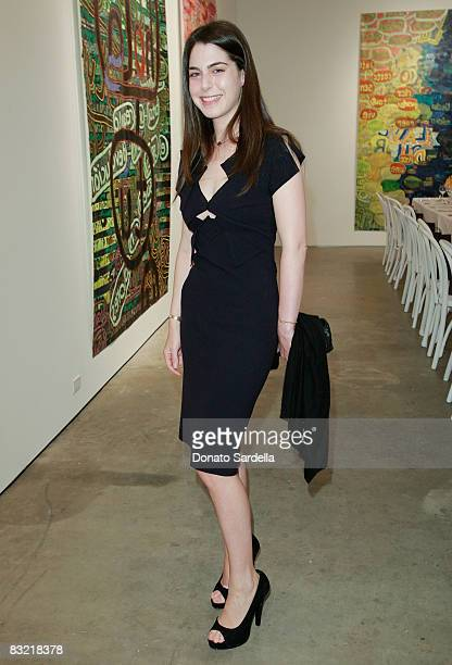 Amanda Goldberg attends a dinner hosted by Vogue and Mulberry celebrating the work of Alexandra Grant on display at the 'Some Paintings' exhibition...