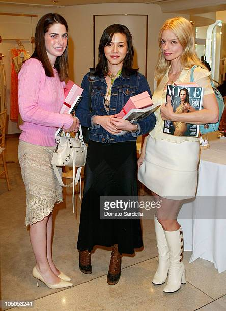 Amanda Goldberg China Chow Lisa Marie during Escada Luncheon By Irena Medavoy Wendy Goldberg and Susan Moses at Escada Store in Beverly Hills...