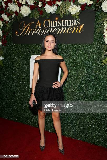 Amanda Grace Benitez attends 'A Christmas Arrangement' Los Angeles premiere at Garry Marshall Theatre on November 14 2018 in Burbank California