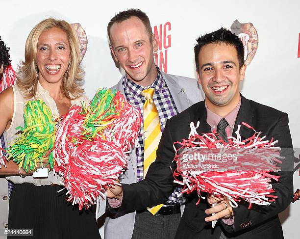 Amanda Green Jeff Whitty LinManuel Miranda attending the Broadway Opening Night Performance of 'Bring it On The Musical' at the St James Theatre in...