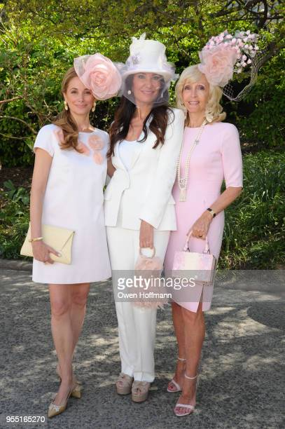 Amanda Grove Holmen Nazee Moinian and Hayden Hosford attend 36th Annual Frederick Law Olmsted Awards Luncheon Central Park Conservancy at The...