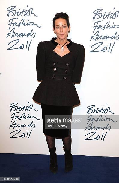 Amanda Harlech arrives at the British Fashion Awards at The Savoy Hotel on November 28 2011 in London England