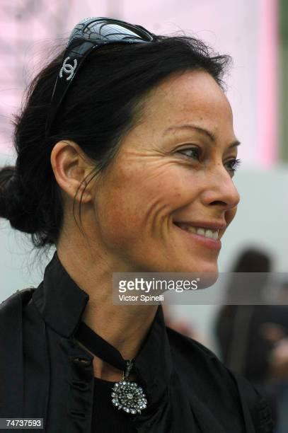 Amanda Harlech at the Grand Palais in Paris France