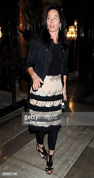 Amanda Harlech attends the afterparty following the UK film premiere of 'The Duchess' at The Foreign and Commonwealth Office on September 3 2008 in...