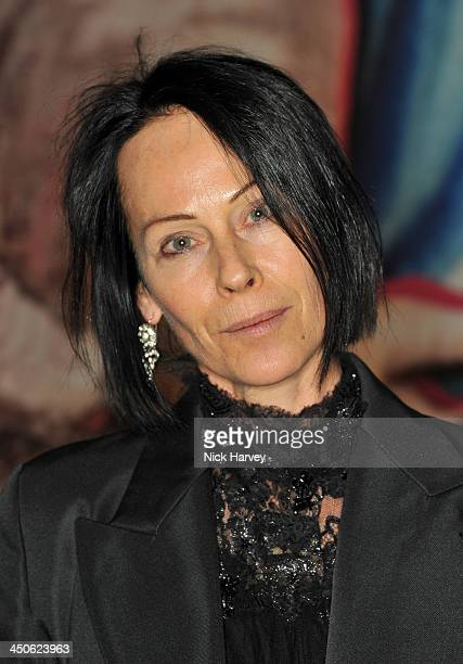 Amanda Harlech attends the private view of Isabella Blow Fashion Galore Party at Somerset House on November 19 2013 in London England