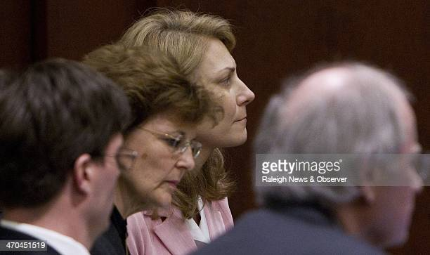 Amanda Hayes right listens to the jury's verdict in her trial in Raleigh NC on Wednesday Feb 19 2014 Hayes was accused of acting in concert with her...