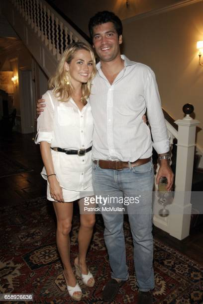 Amanda Hearst and Alejandro Santo Domingo attend the Best Buddies Hamptons Gala at the Home of Anne Hearst McInerney and Jay McInerney on August 21...