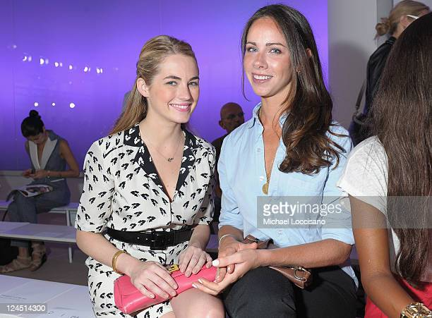 Amanda Hearst and Barbara Pierce Bush attend the Prabal Gurung Spring 2012 fashion show during MercedesBenz Fashion Week at the IAC Building on...