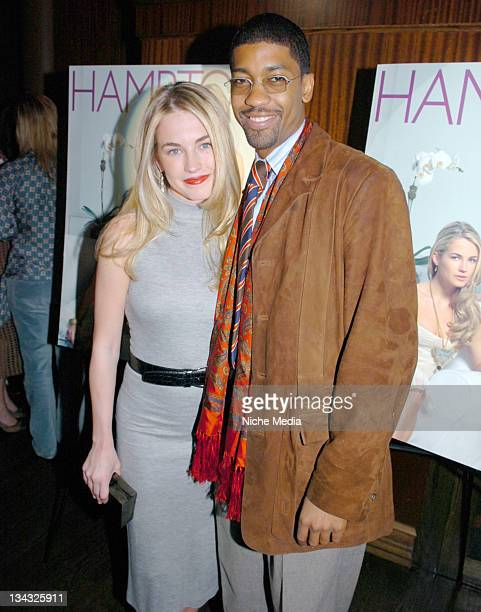 Amanda Hearst and Fonzworth Bentley during Anne and Amanda Hearst Celebrate Their Cover Appearance on Hamptons Magazine and Kick Off the Hamptons...
