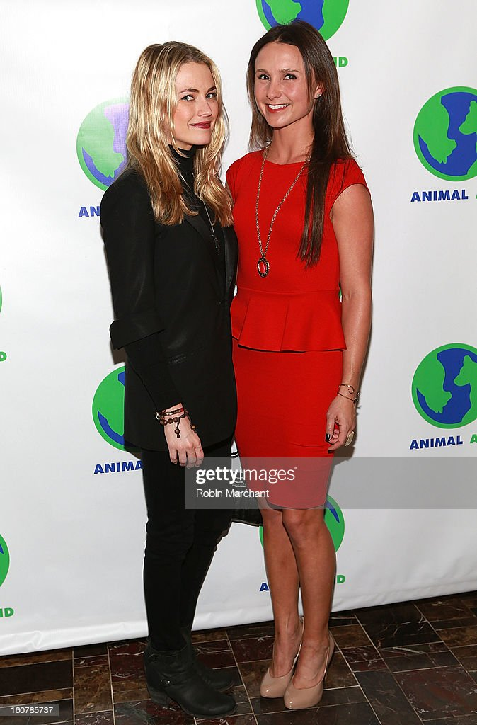 Amanda Hearst (L) and Georgina Bloomberg attends Animal AID One Year Anniversary Celebration at Thomson Hotel LES on February 5, 2013 in New York City.