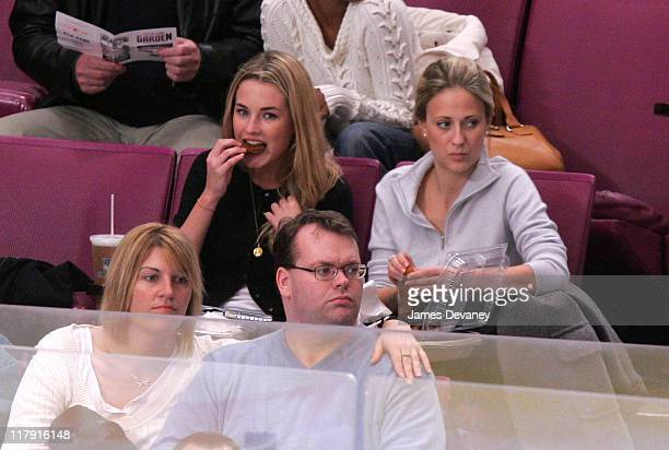 Amanda Hearst and guest during Celebrities Attend Atlanta Thrashers vs NY Rangers Playoff Game April 18 2007 at Madison Square Garden in New York...