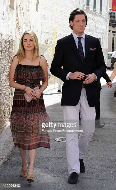 Amanda Hearst and her boyfriend the Spanish aristocrat Luis Medina attend the Easter Procession on April 17 2011 in Seville Spain