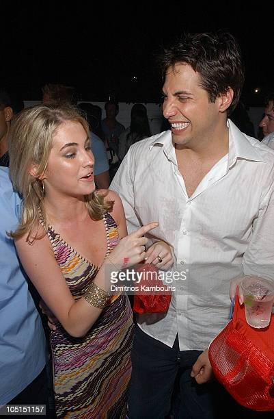 Amanda Hearst and Joe Francis during Girls Gone Wild Hamptons Party at Tavern in Southampton New York United States