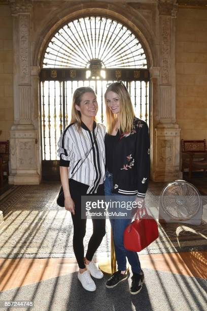 Amanda Hearst and Lydia Hearst attend Hearst Castle Preservation Foundation Associate Trustees' Tour at Hearst Castle on September 28 2017 in San...