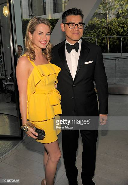 Amanda Hearst and Peter Som attends the 2010 CFDA Fashion Awards at Alice Tully Hall Lincoln Center on June 7 2010 in New York City
