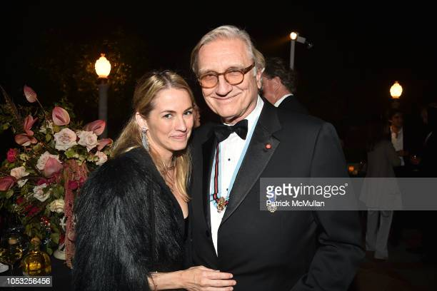 Amanda Hearst and Robert Marx attend Hearst Castle Preservation Foundation Hollywood Royalty Dinner at Hearst Castle on September 28 2018 in San...