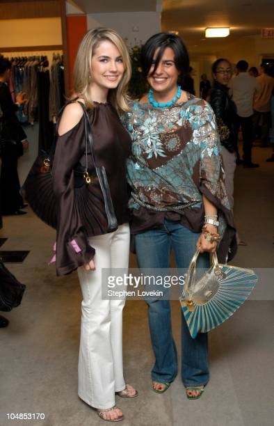 Amanda Hearst and Veronica Etro during Private Cocktail Reception in Honor of Veronica Etro at Bergdorf's in New York City New York United States