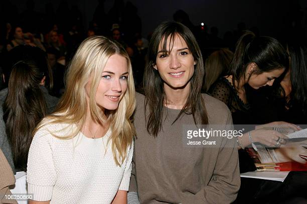 Amanda Hearst and Zani Gugelmann during Mercedes Benz Fashion Week Fall 2007 Peter Som Front Row and Backstage at The Promenade Bryant Park in New...
