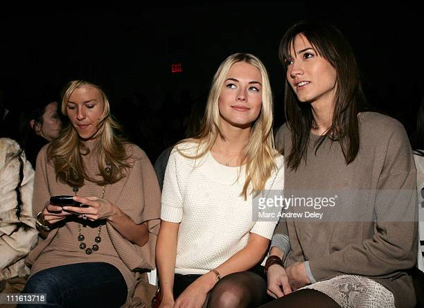 Amanda Hearst and Zani Gugelmann during MercedesBenz Fashion Week Fall 2007 Peter Som Front Row and Backstage at The Promenade Bryant Park in New...