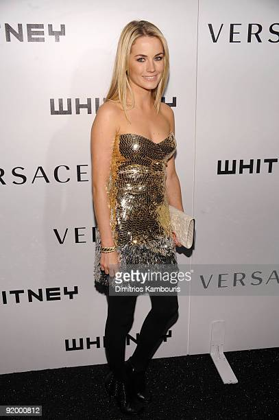 Amanda Hearst attends the 2009 Whitney Museum Gala at The Whitney Museum of American Art on October 19 2009 in New York City