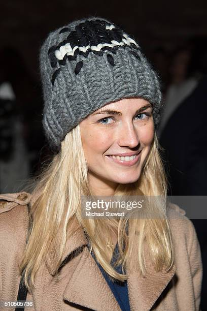 Amanda Hearst attends the Maiyet fashion show during Fall 2016 New York Fashion Week at Cedar Lake on February 15 2016 in New York City