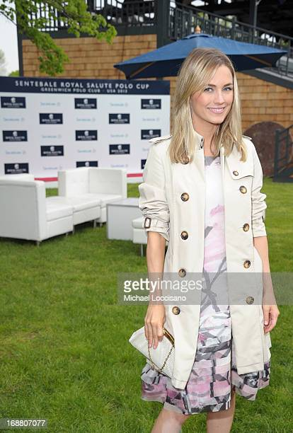 Amanda Hearst attends the Sentebale Royal Salute Polo Cup at The Greenwich Polo Club on Wednesday 15th May The Sentebale Land Rover team was...