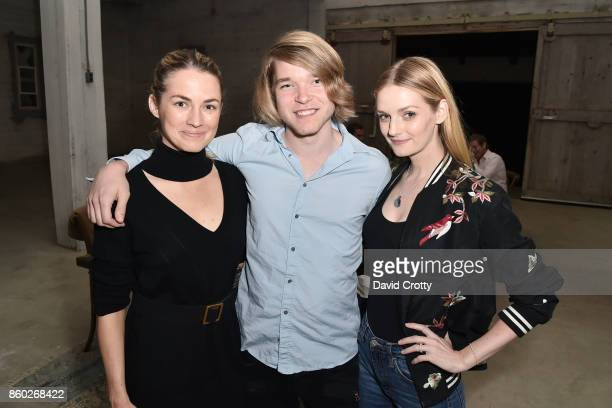 Amanda Hearst Barrett McInerney and Lydia Hearst attend Hearst Castle Preservation Foundation Associate Trustees' Dinner at Julia Morgan Warehouse on...
