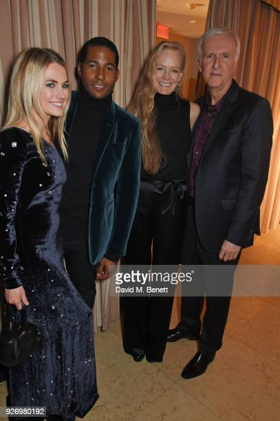 Amanda Hearst Hassan Pierre Suzy Amis Cameron and James Cameron attend the first annual gala hosted by MAISONDEMODECOM and Perrier Jouet to celebrate...