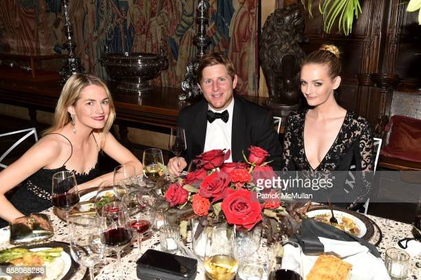 Amanda Hearst James Bloomingdale and Lydia Hearst attend Hearst Castle Preservation Foundation Benefit Weekend 'James Bond 007 Costume Gala' at...