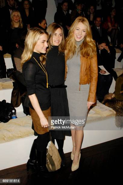Amanda Hearst Lauren Bush and Blake Lively attend RALPH LAUREN Fall 2009 Collection at Skylight Studios on February 20 2009 in New York City