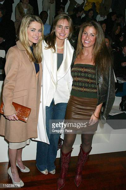 Amanda Hearst Lauren Bush and Dylan Lauren during Olympus Fashion Week Fall 2005 Ralph Lauren Front Row and Arrivals at The Annex in New York City...