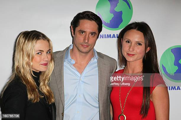 Amanda Hearst, Lorenzo Borghese and Georgina Bloomberg attend Animal AID One Year Anniversary Celebration at Thomson Hotel LES on February 5, 2013 in...