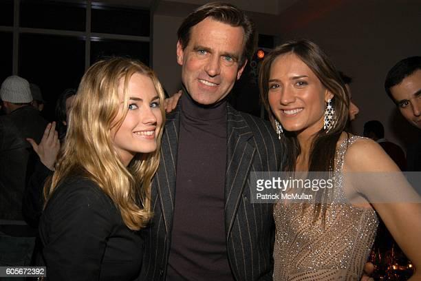 Amanda Hearst Paul Beck and Zani Gugelmann attend VERSACE VIP Dinner at 1 Beacon Court on February 7 2006 in New York